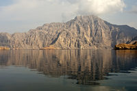 barren mountain range on Seebi Island, Oman
