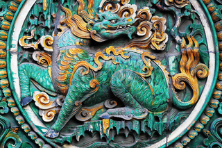 Chinese ancient brick carving art of grapes