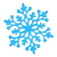 Blaue Schneeflocke auf weiß