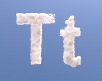 Letter T cloud shape