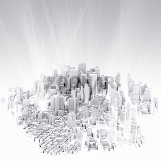 image of 3d render of city scape