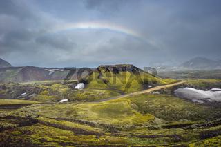 Scenic highland area of Landmannalaugar, Iceland