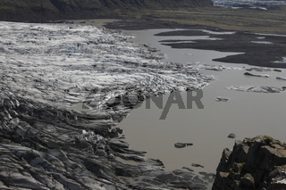 Skaftafellsjökull is one of the outlet glaciers (glacier tongues) of the Vatnajökull ice cap. Skaftafell