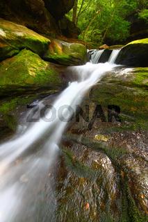 Caney Creek Falls Cascade in Alabama