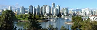Vancouver BC skyline at False creek.