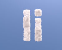 Letter I cloud shape