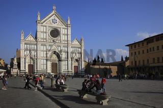 Franziskanerkirche Santa Croce an der Piazza Santa Croce in Firenze