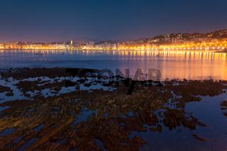 Beach in San Sebastian, Gipuzkoa, Spain
