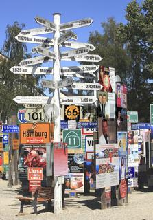 Der Fernwehpark ist eine der Hauptsehenswürdigkeiten der Stadt Hof, Oberfranken, Bayern., Deutschland    /    the Fernwehpark is one of the sights of the city Hof, Frankonia, Bavaria, Germany