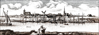 Panoramic view of Wesel, 17th century, Germany, Europe
