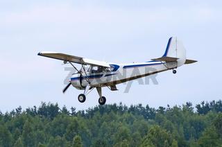 Yak-12 plane in flight