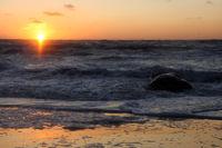 sun set at North Sea