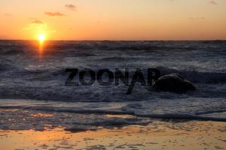 Sonnenuntergang an der Nordsee