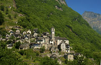 The listed village of Corippo, Ticino, Switzerland