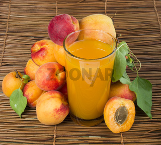 Glass apricot juice.