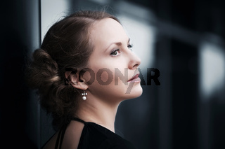 Beautiful woman looking away