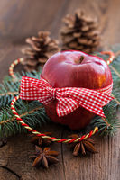 red christmas apple
