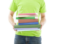 Young Man holding the Books