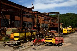 Musée de la Mine,  Petite Rosselle, Lothringen, F
