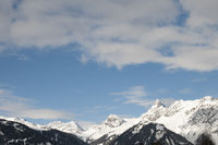 Sky and mountains in winter, Austria
