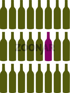 Wine bottles set