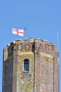 Top of tower with flag