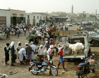 Freitagsmarkt in Beit al-Fakih