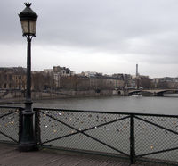 Love Bridge in Paris.