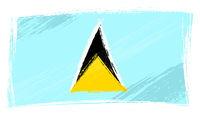 Grunge Saint Lucia flag