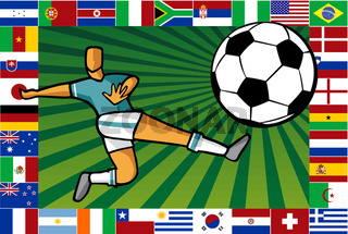 Championship South Africa soccer cup poster