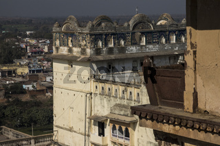 Palace complex in Orchha. Madhya Pradesh, India