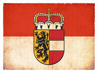 Grunge flag of Salzburg (Austria)