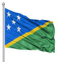 Waving flag of Solomon Islands