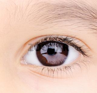 Child macro closeup eye