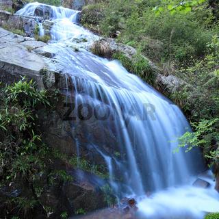 waterfall on the rock