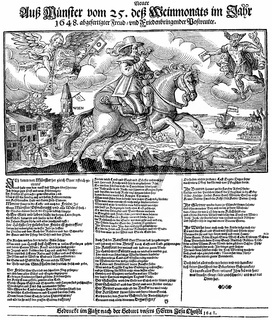 Historical illustration, leaflet from the 17th Century in German