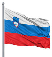 Waving flag of Slovenia