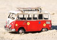 Surfer, Hippie VW Bus
