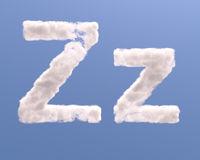 Letter Z cloud shape