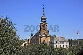 Kloster Marienweiher ist die vermutlich älteste Wallfahrtskirche Deutschlands, Landkreis Kulmbach, Oberfranken, Bayern, Deutschland   /    the monastery of Marienweiher, oldest pilgrimage in Germany, district of Kulmbach, Frankonia, Bavaria, Germany
