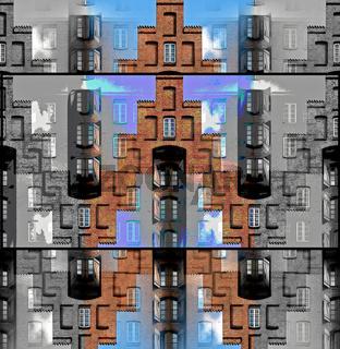 Lübecker Treppengiebel Collage