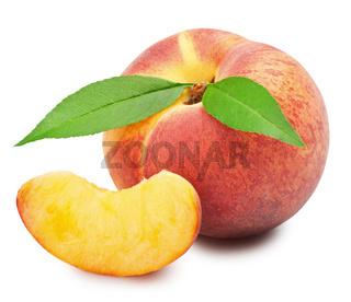 Ripe peach fruit