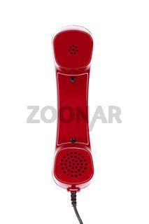Typischer Telefonhörer isoliert auf weiß