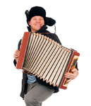 Russian man with accordion