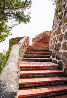 Medieval staircase outdoor