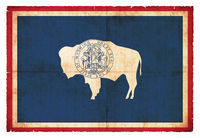 Grunge flag of Wyoming (USA)