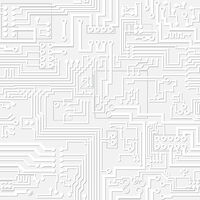Light gray circuit board pattern