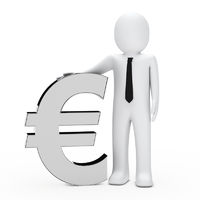 Businessman hold euro