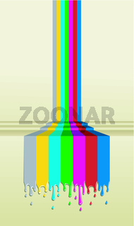 Colorful TV screen signal paint illustration