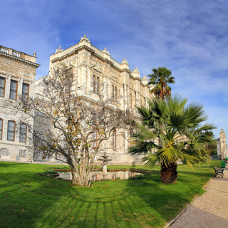dolmabahce palace at winter - istanbul